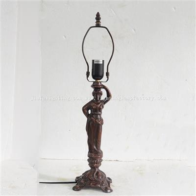 B0002 Art Nouveau Lady Table Lamp Base Only Suitable for 12 inch(30cm) Lampshade 1 E27/E26 Bulb Hold