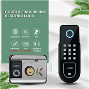 WAFU Double Fingerprint Electronic Door Lock with Password for Home Courtyard Hotel Smart Remote Con