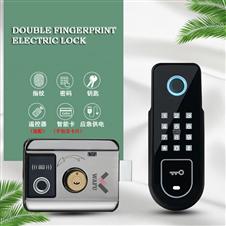华府品牌双指纹密码一体电控锁智能庭院锁出租房门锁(WF-002)