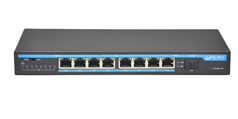 S1009F-P 8 RJ-45 10/100M Ports+1 10/100M SFP ports POE Switch with power adapter