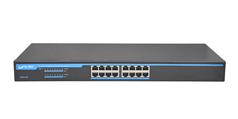 S2616-P 16 Ports Gigabit POE Switch with internal power supplies
