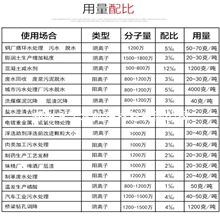 阴阳离子聚丙烯酰胺药剂用量计算