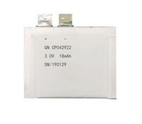 锂锰软包电池CP042922-15mAh