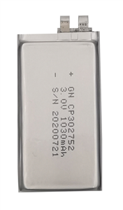 锂锰软包电池CP302752-1030mAh