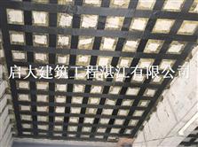 湛江梁樓板粘碳纖維布加固效果.