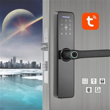 WAFU tuya WIFI Fingerprint Indoor Lock Smart Fingerprint Password Card Office Door Lock for Hotel/Ho