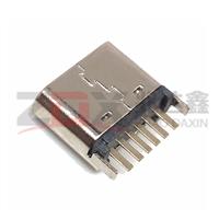 TYPEC 母座6P立式插板 H6.8