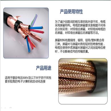 阻燃屏蔽双绞线ZR-RVSP-2x1.0
