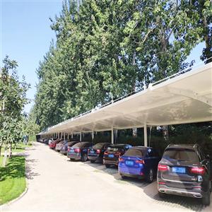 南京汽车棚_雨棚价格_源卡多膜结构安装