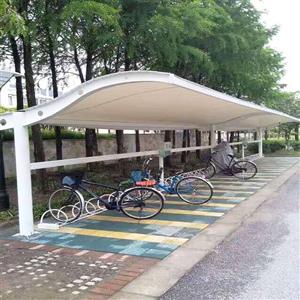 南京小区膜结构车棚_自行车棚_源卡多厂家直销