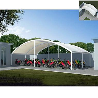 南京电动车膜结构车棚_小区单位膜结构_源卡多免费设计出图