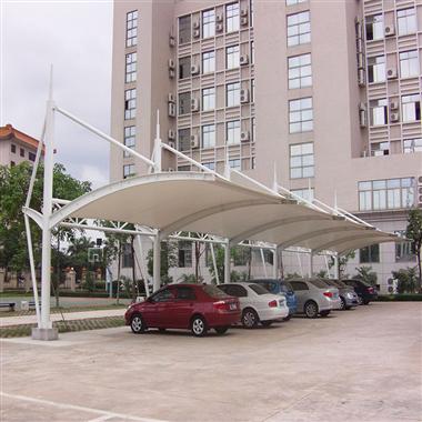 南京汽车棚-电动车自行车遮阳棚选择源卡多膜结构