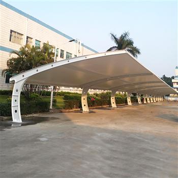 南京汽车车棚安装_自行车棚_源卡多张拉膜上门测量安装