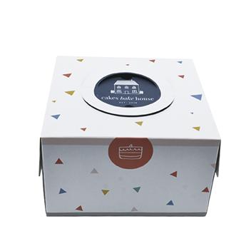 生日蛋糕盒 开窗手提式牛皮纸糕点蛋糕盒
