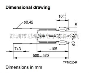 TDK-EPCOS热敏PTC B59300M1120A070 120°C ≤ 1650Ω 传感器