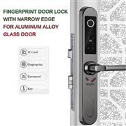 WF-021 WAFU Waterproof Fingerprint Door Lock with Narrow Edge  for Aluminum Alloy Glass Door Lock