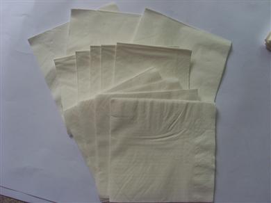 鋼印無色餐巾紙