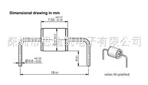 陶瓷气体放电管 4kV 20% 3kA EHV62-H40B3 B88069X2943B25