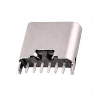 TYPE-C 6P母座立式插板H6.8
