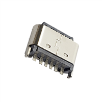 TYPE-C6P母座立式插板H5.0