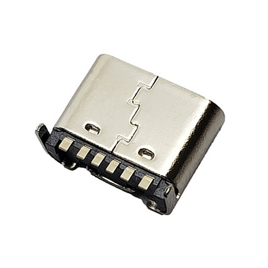 TYPE-C 6P母座后两脚插板H6.5-6.8