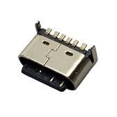 TYPE-C 6P母座后两脚插板H5.0-5.5