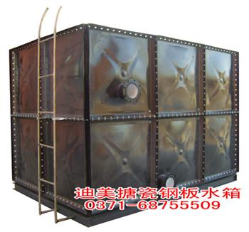 Assembled enamel steel water tank