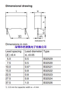 薄膜电容 B32529D1105J289 1.0uF 100volts 5% P5MM