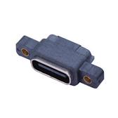 TYPE-C 6P防水母座单排带螺丝孔L8.70