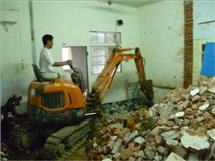 长沙室内外拆除人工机械微小挖机拆除打墙打地板