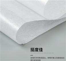 厂家直销半透明油光蜡光纸 服装塑胶包装隔层电镀防潮白纸定制