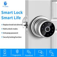WAFU WF-Q1 Fingerprint Door Lock Tuya Bluetooth Wifi Digital Keyboard Smart Card Combination knob Lo