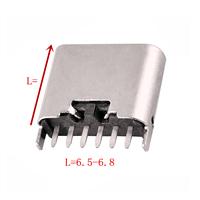 TYPE-C 6P母座立式插板L6.