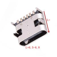 TYPE-C 6P母座四脚插板 L6