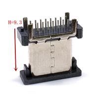 TYPE-C 16P母座立插H9.3新
