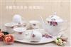 浮雕雪花茶具