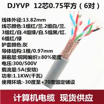 计算机信号电缆DJYPVP-3*2*1.0分屏加总屏电缆