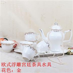 歐式浮雕宮廷茶具 HZM-1098