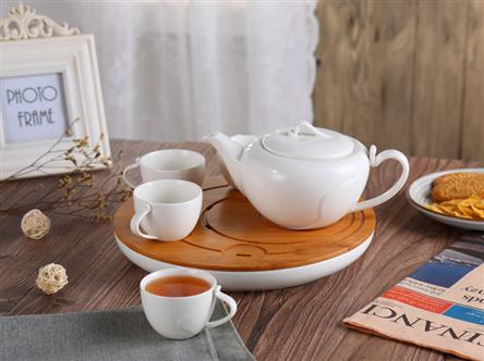 都市風曲紋茶具套裝HZM-1010