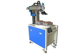 两工位转盘丝印机 定位丝印机  全自动丝印机  东莞恒锦丝印机