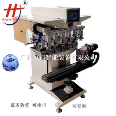 六色伺服穿梭旋转移印机运行精准自动清洁移印机厂家供应