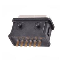 TYPE-C6P防水母座立式插板