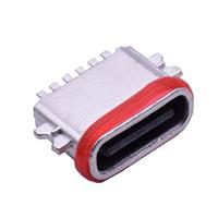 TYPE-C6P防水母座沉板0.8全贴锌合金L6.7MM