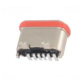 TYPE-C6P防水母座180度立式贴板锌合金L7.2MM