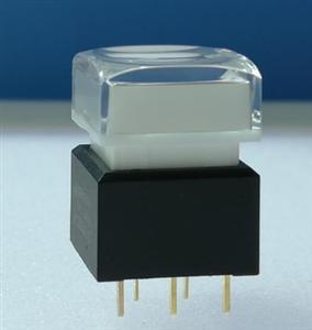 PB06控制台带灯按钮开关,12*12音频混合矩阵切换带灯按钮开关盖子灯光颜色多选只做自锁复位