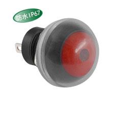 厂家直供PB12MM高等级防水开关-带防水帽-带灯-按钮开关灯色多选