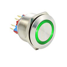 现货供应自锁防水防爆金属按钮直径25mm开关-按钮灯压12V按钮开关可优惠