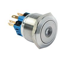 带LED灯直径25mm金属按钮开关厂商直供量大价优
