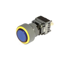 开孔19mm全塑胶按钮开关 自锁和复位功能 PB19电源标带灯开关按钮 修改