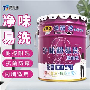 凈味超易洗墻面漆TB-6000 家裝凈味抗污乳膠漆